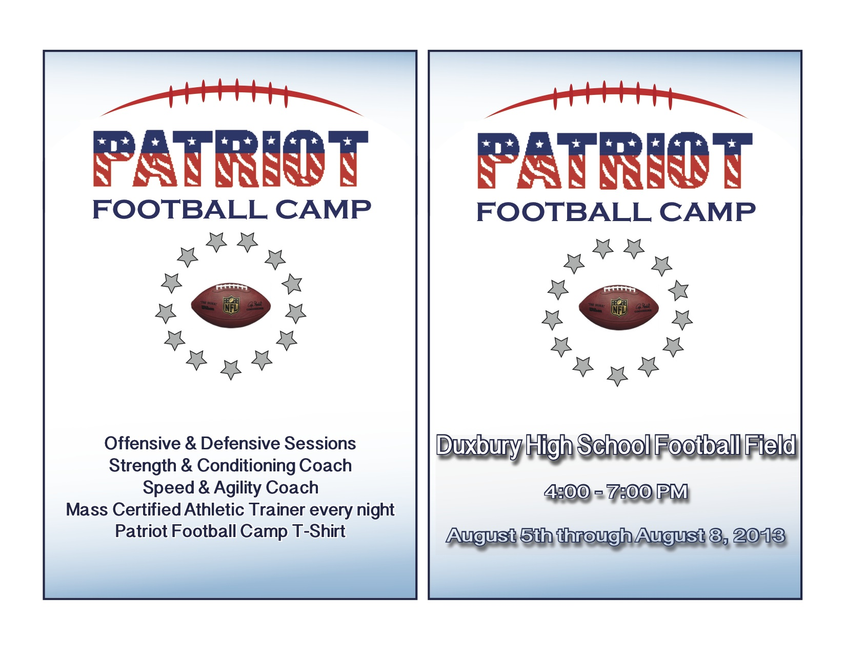 PATRIOT FOOTBALL CAMP – Duxbury Football
